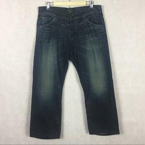 Hudson Straight Cut Jeans Size 36 Waist Dark